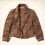 Hollister El Morro Vintage Brown Fringe Jacket