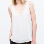 Zara White Double layer top