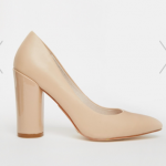 Asos Faith Carter Leather High Heeled Nude Shoes