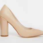 ASOS Faith Carter Nude Leather High Heeled Shoes