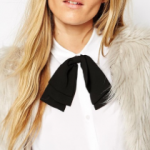 ASOS Black Double Bow Tie