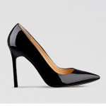 Bloomingdales IVANKA TRUMP Black Patent Pointed Toe Pumps - Carra High Heel
