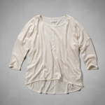 Abercrombie Oatmeal Cream OPEN SHOULDER TEE