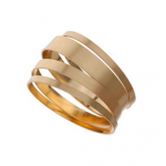 Topshop Gold BRUSHED BANGLE PACK