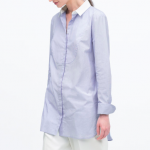 Zara Blue Striped cotton shirt