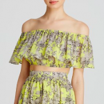 Lucy Paris Top - Bloomingdale's Exclusive Yellow Floral Off-The-Shoulder