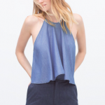 Zara Blue Denim top