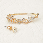 Forever 21 Gold Flower Ear Cuff Set