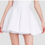 AQUAWhite Skirt - Inverted Pleat Flared