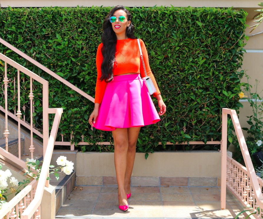 Colorblocking at its best! - Bright Colorblocking Outfit like Beyonce