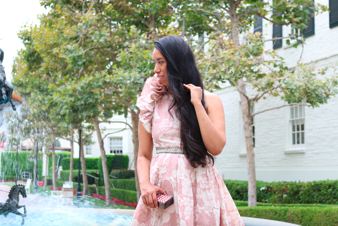 Ruffles and Things - Sunday Brunch Pink Look Wedding Guest Outfit