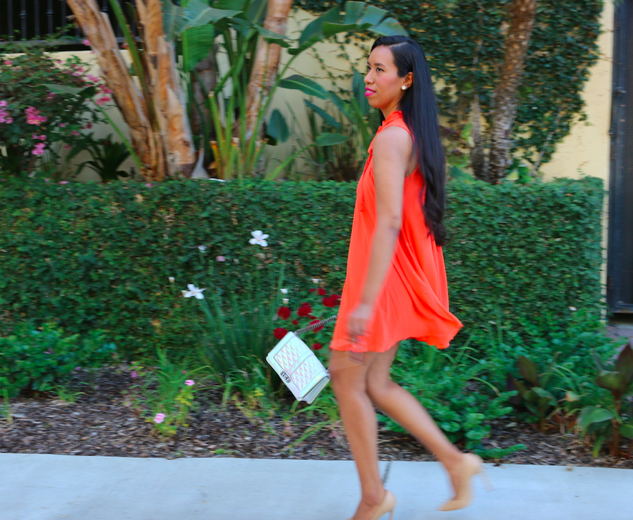 Summer Session - Orange Pleated Dress Breezy Outfit