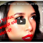 Halloween Tutorial : Wonder Woman Hair and MakeUp