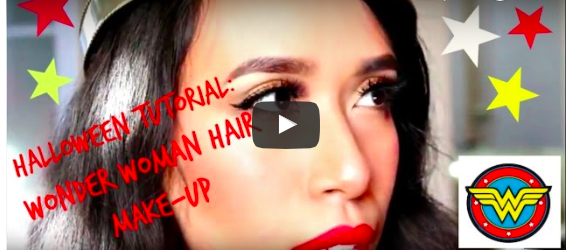 Halloween Tutorial - Wonder Woman Hair and MakeUp