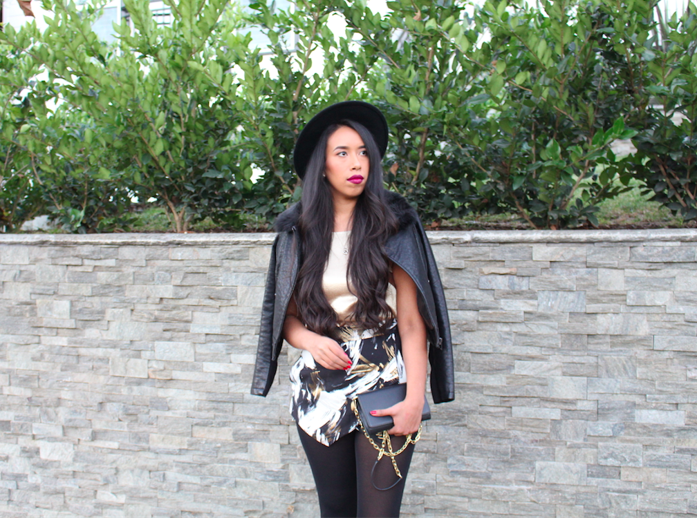 New Year's Eve Party Outfit: Black details
