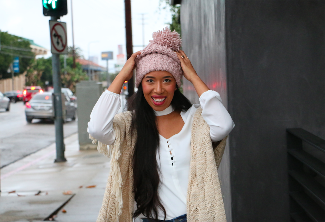 Conquering the Cold with an Oversized Beanie 35