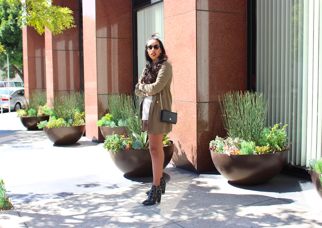 How to Style a Long Bomber Jacket