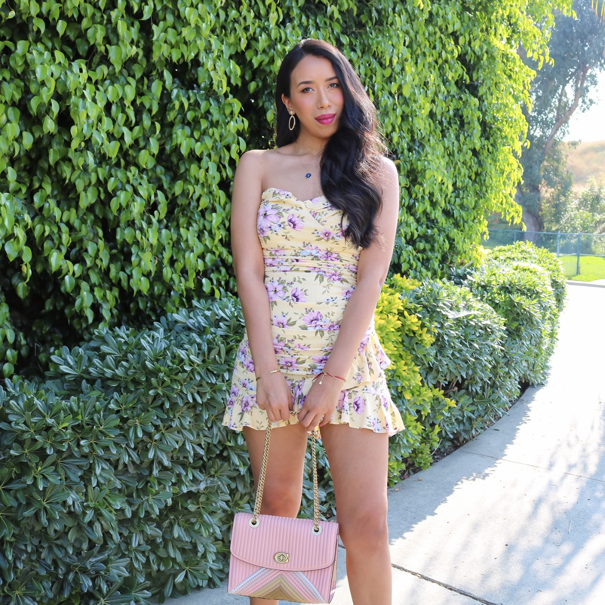 Itty Bitty Yellow... Floral Dress